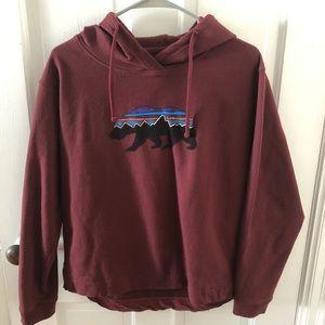 Maroon Patagonia hoodie